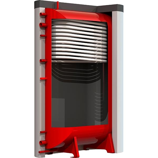 Тепловий акомулятор Kraft із змійовиком, 500 літрів