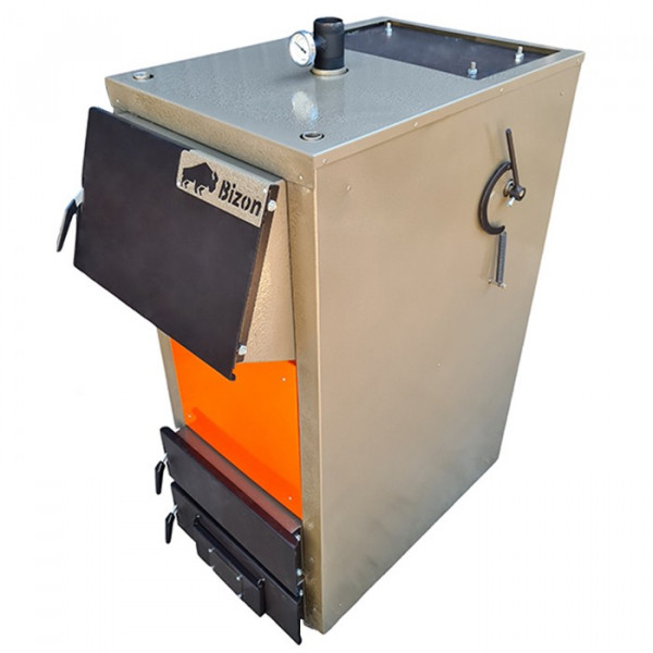 Котел твердопаливний (дрова, вугілля) тривалого горіння Bizon-F Термо 8 кВт